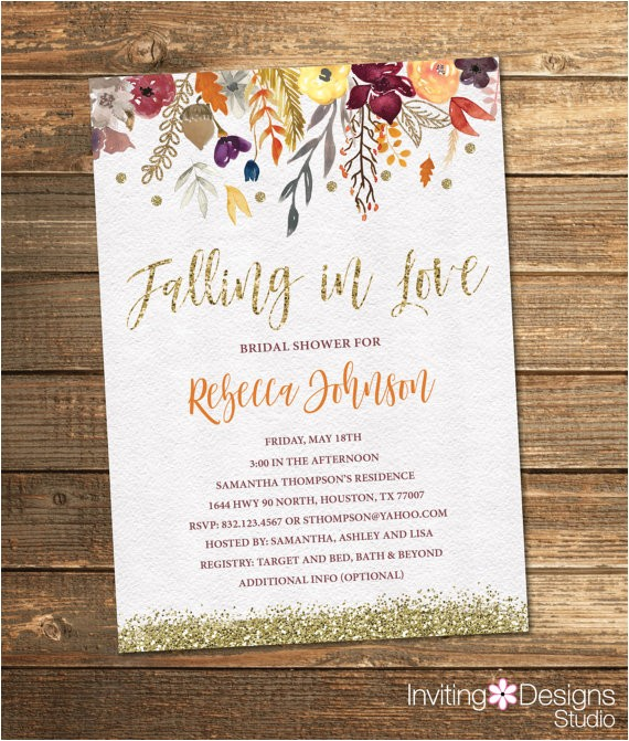 fall bridal shower invitation autumn ref=shop home active 1