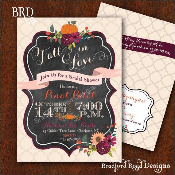 fall bridal shower invitation autumn bride autumn wedding shower pumpkin wedding shower fall florals invitation 5x7 printable