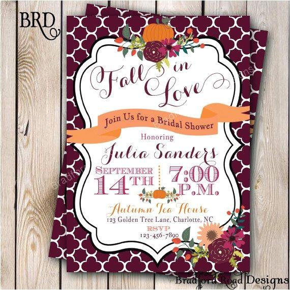 Fall Bridal Shower Invitations Free Fall Bridal Shower Invitation Autumn Bride Autumn Wedding