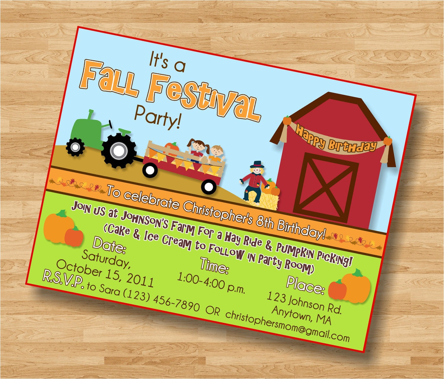 top 18 fall birthday party invitations
