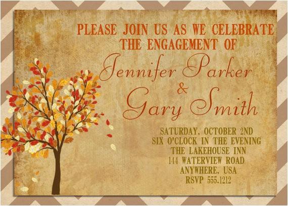 engagement party invitation autumn