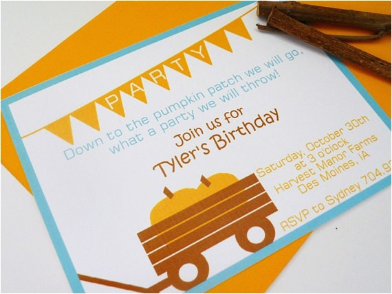 Fall themed Party Invitations Autumn themed Birthday Invitations by Delightfullynoted On