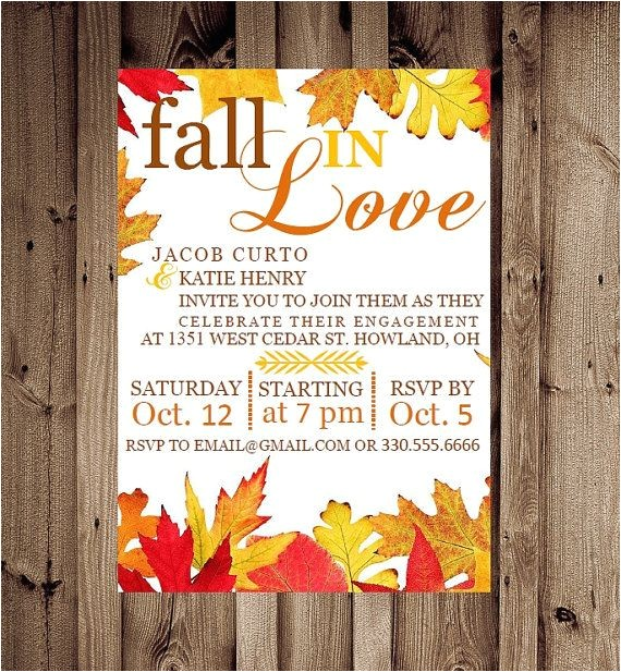 fall engagement party invitations