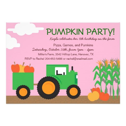 fall farm theme party invitation 161566031155402880