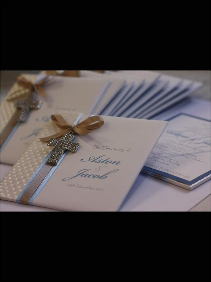 Fancy Baptism Invitations Elegant Boys Christening Invitation by Trouli Graphics