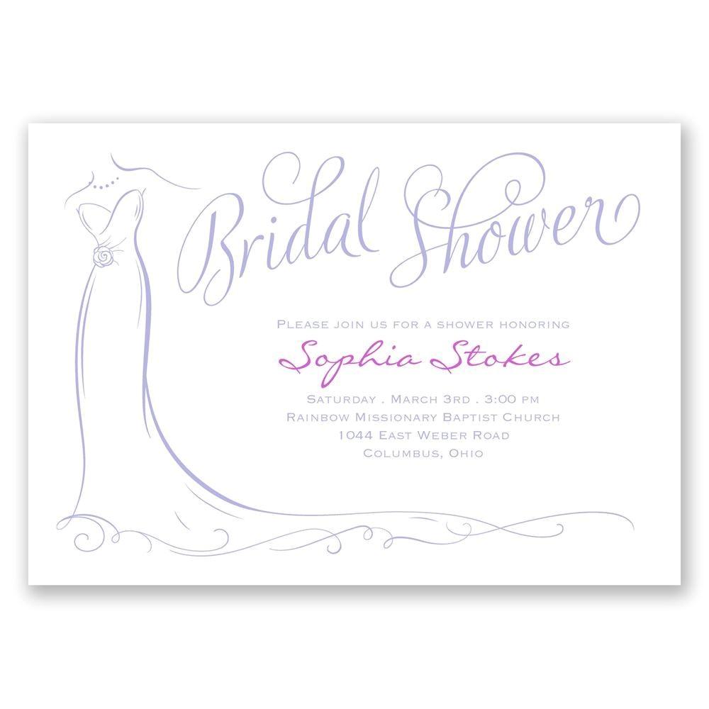 elegant bride bridal shower invitation