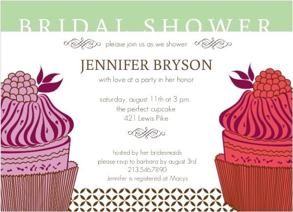 fancy cupcake bridal shower invitation