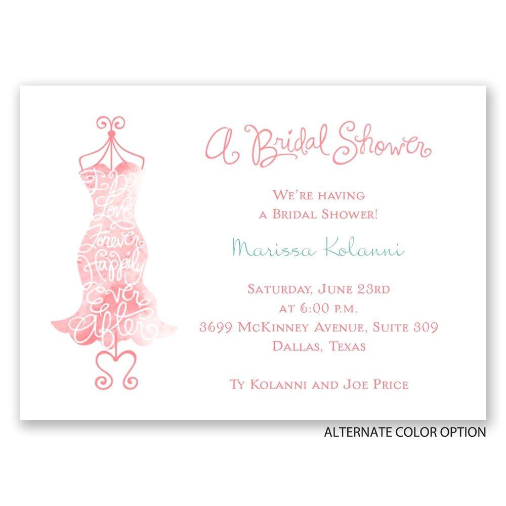 fancy free mini bridal shower invitation