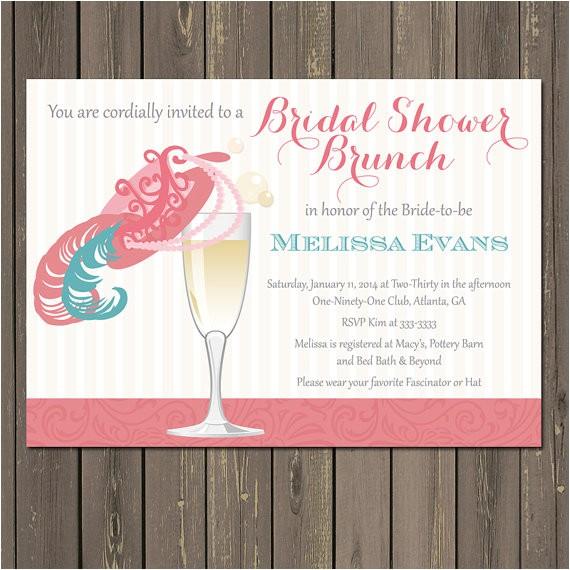 champagne fancy hat bridal shower brunch