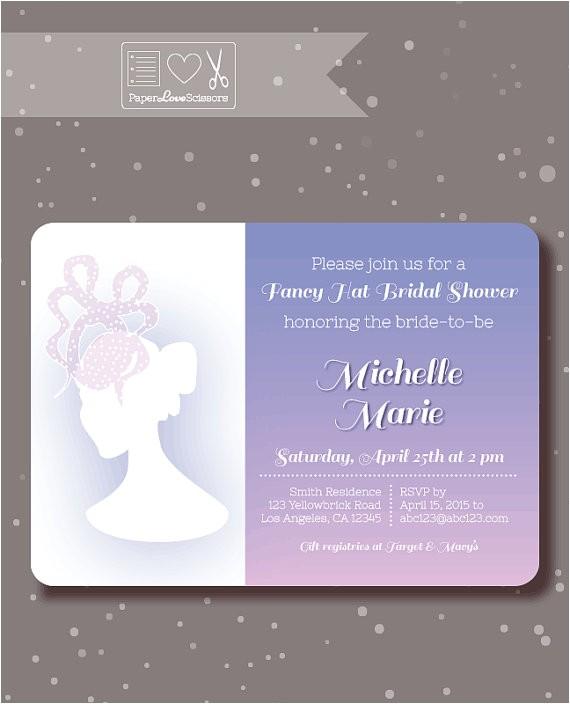 bridal shower invitation fancy hat party utm medium=product listing promoted&utm source=bing&utm campaign=everything else custom