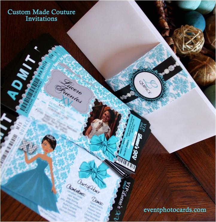 fancy quinceanera invitations beautiful
