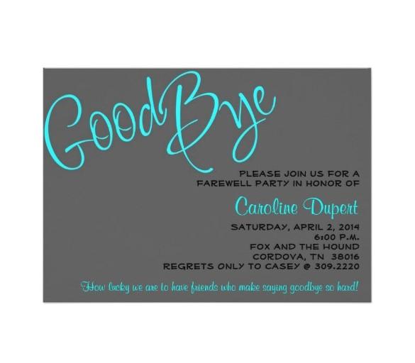 sample farewell card