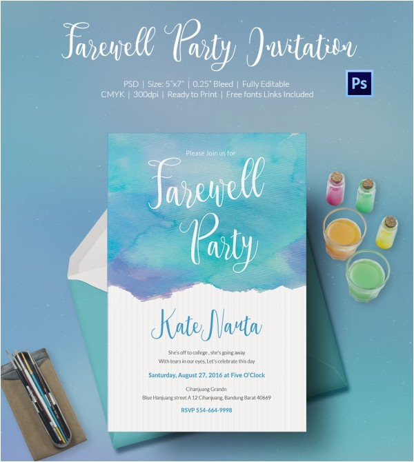 farewell party invitation template