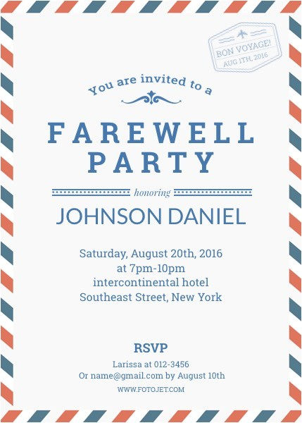 goodbye party invitation