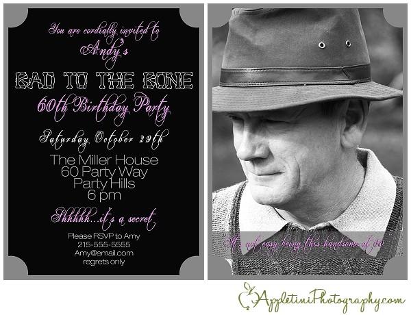 dads 60th birthday invitation
