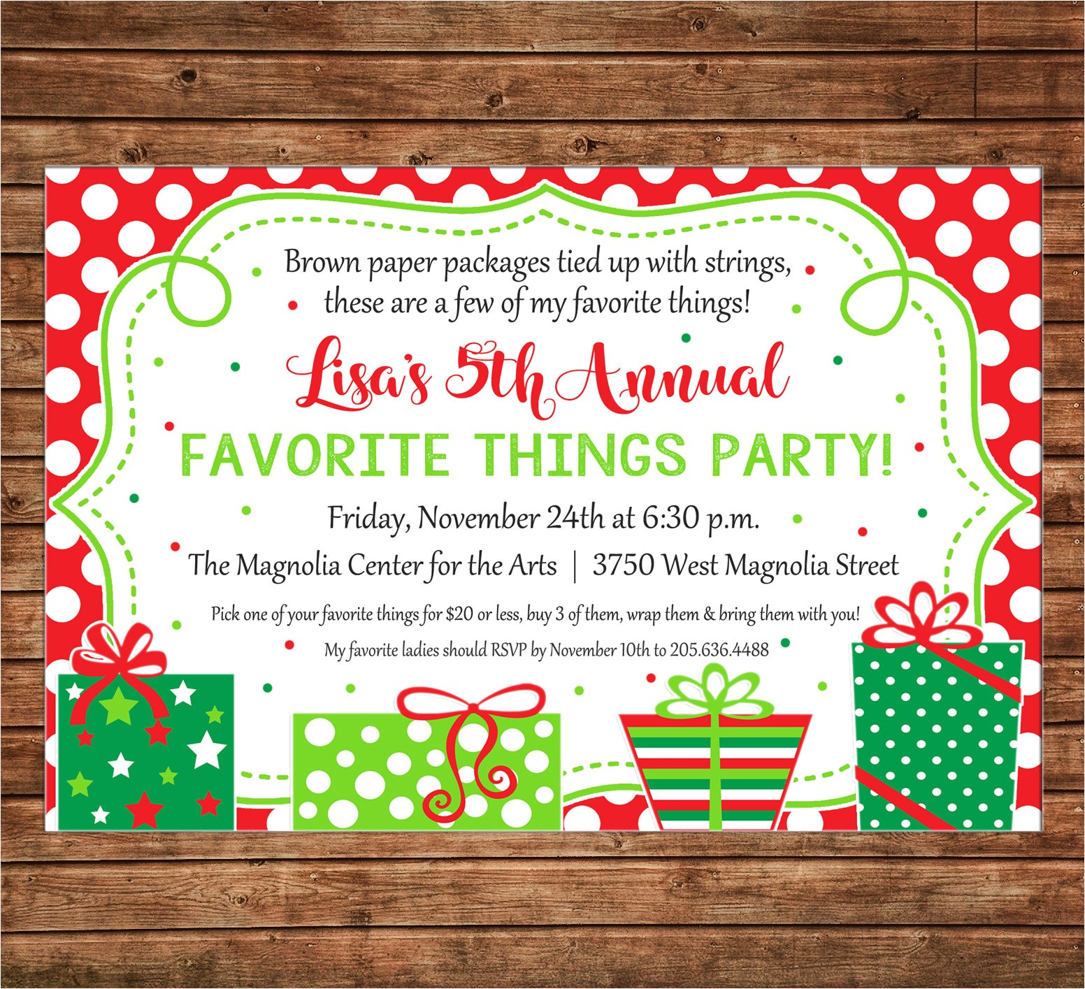 christmas favorite things party ts