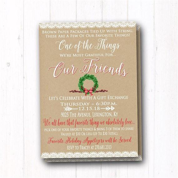 favorite invite rustic christmas t exchange