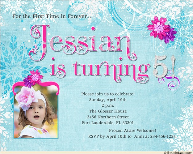 5th birthday party invitation wording