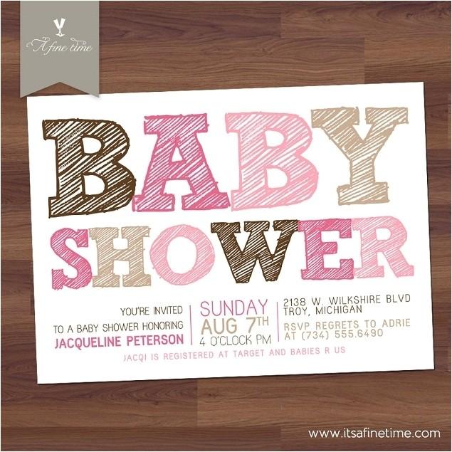 inexpensive invitations baby shower