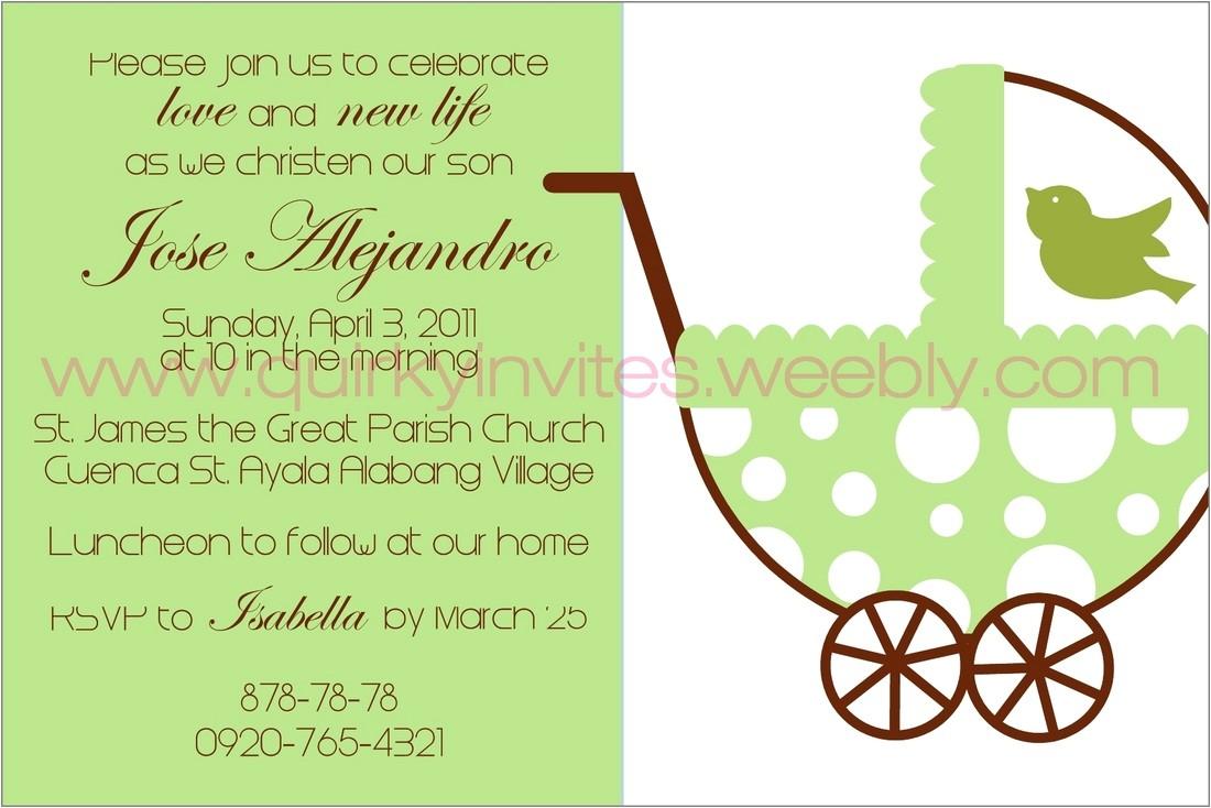 baptism christening invitations