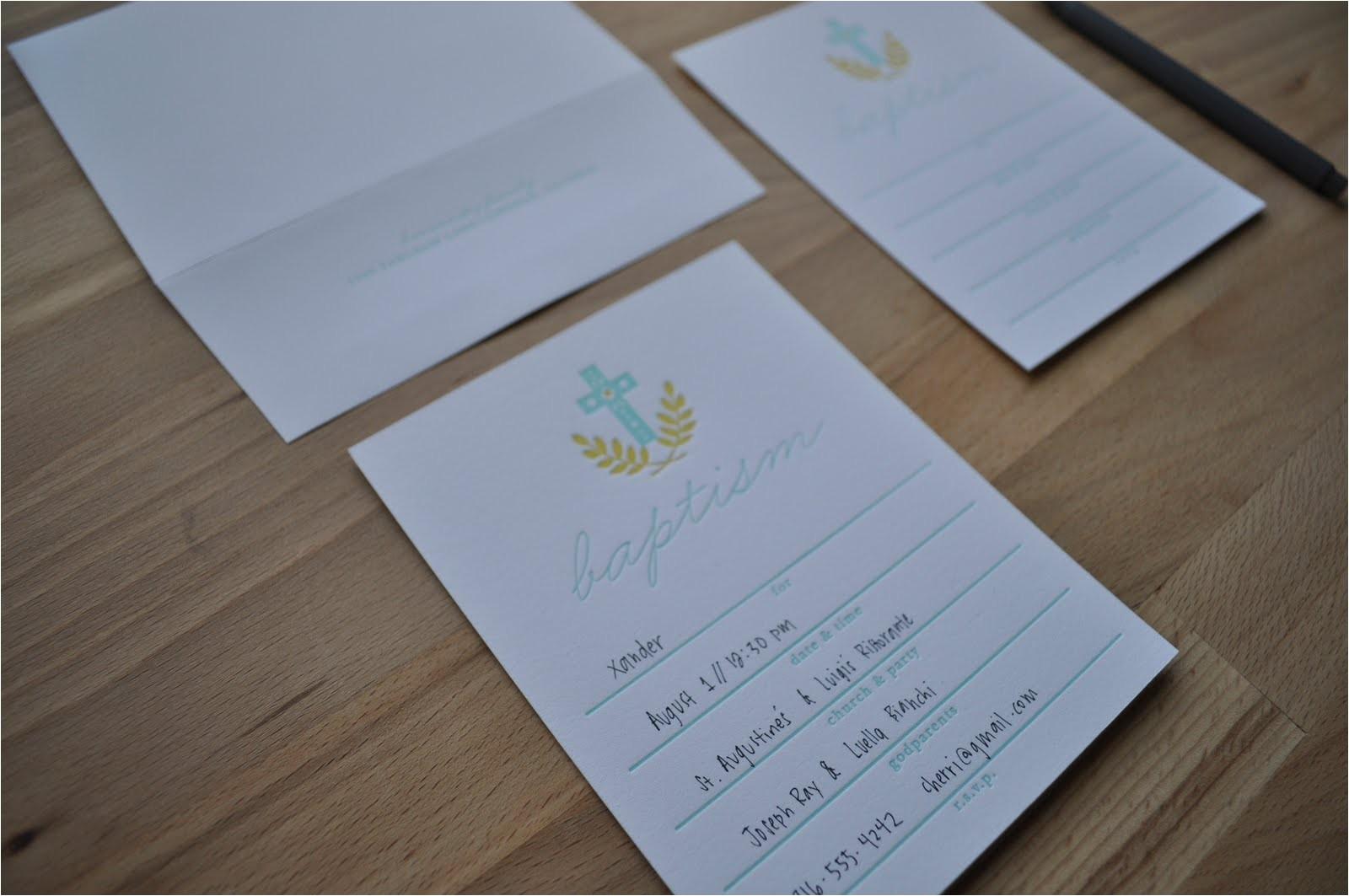 fill in baptism invitations for xander