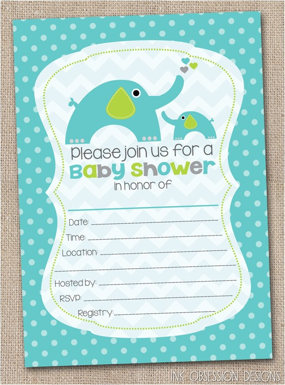 fill in blank elephant baby shower