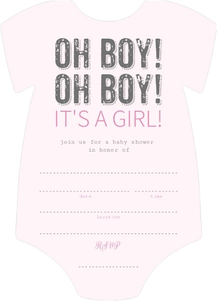 oh boy its a girl fill in the blank baby shower invitation