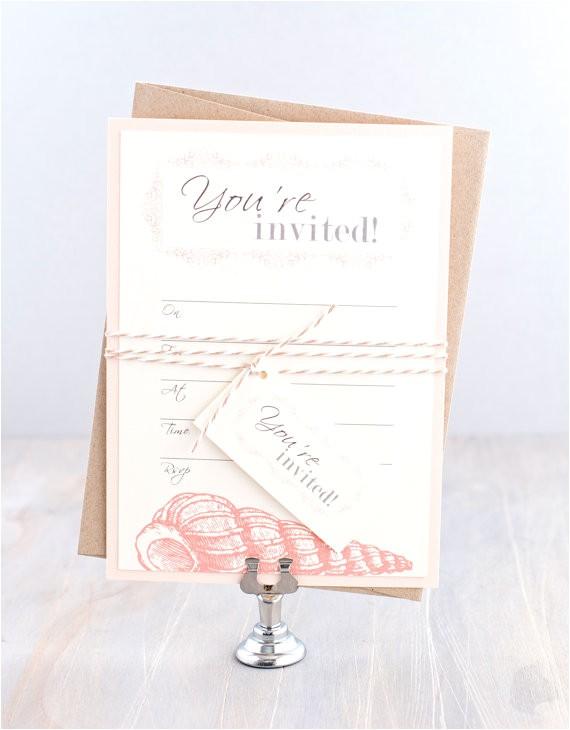 fill in blank invitation beach bridal