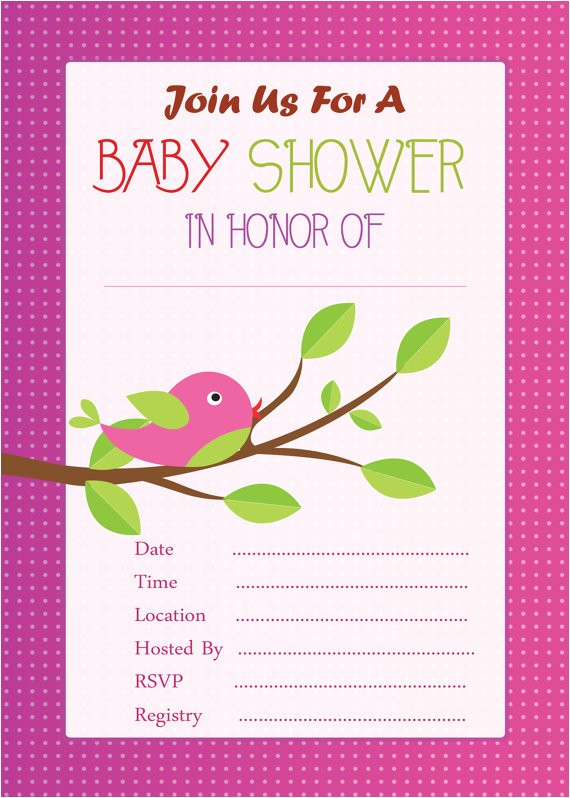 cute pink baby shower invitationinstant