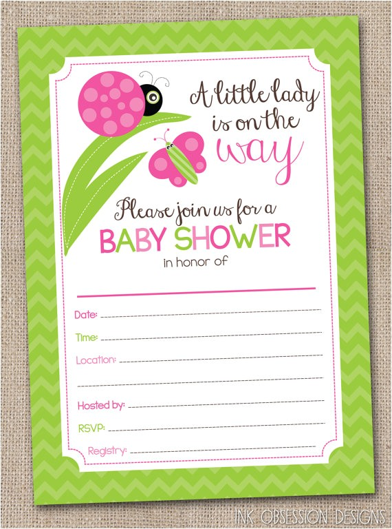 fill in baby shower invitations little