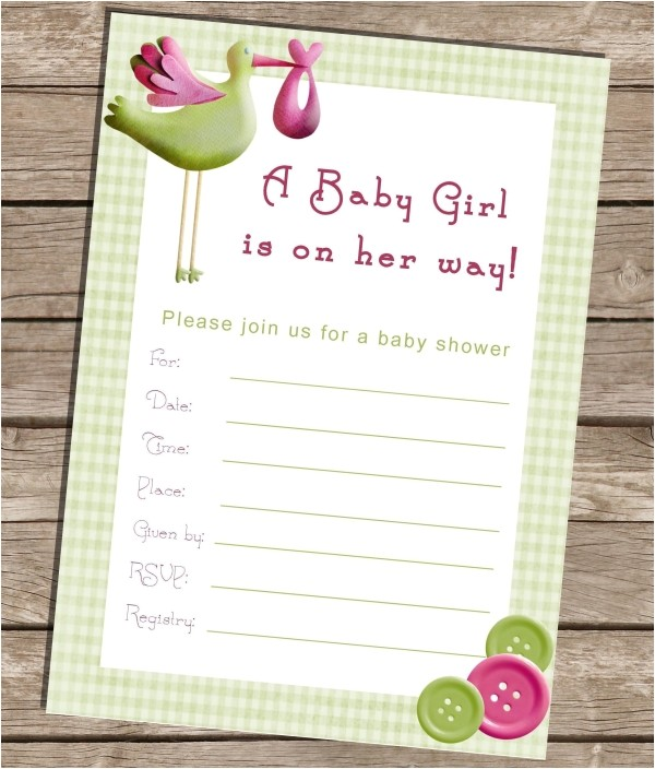 fillable baby shower invitation