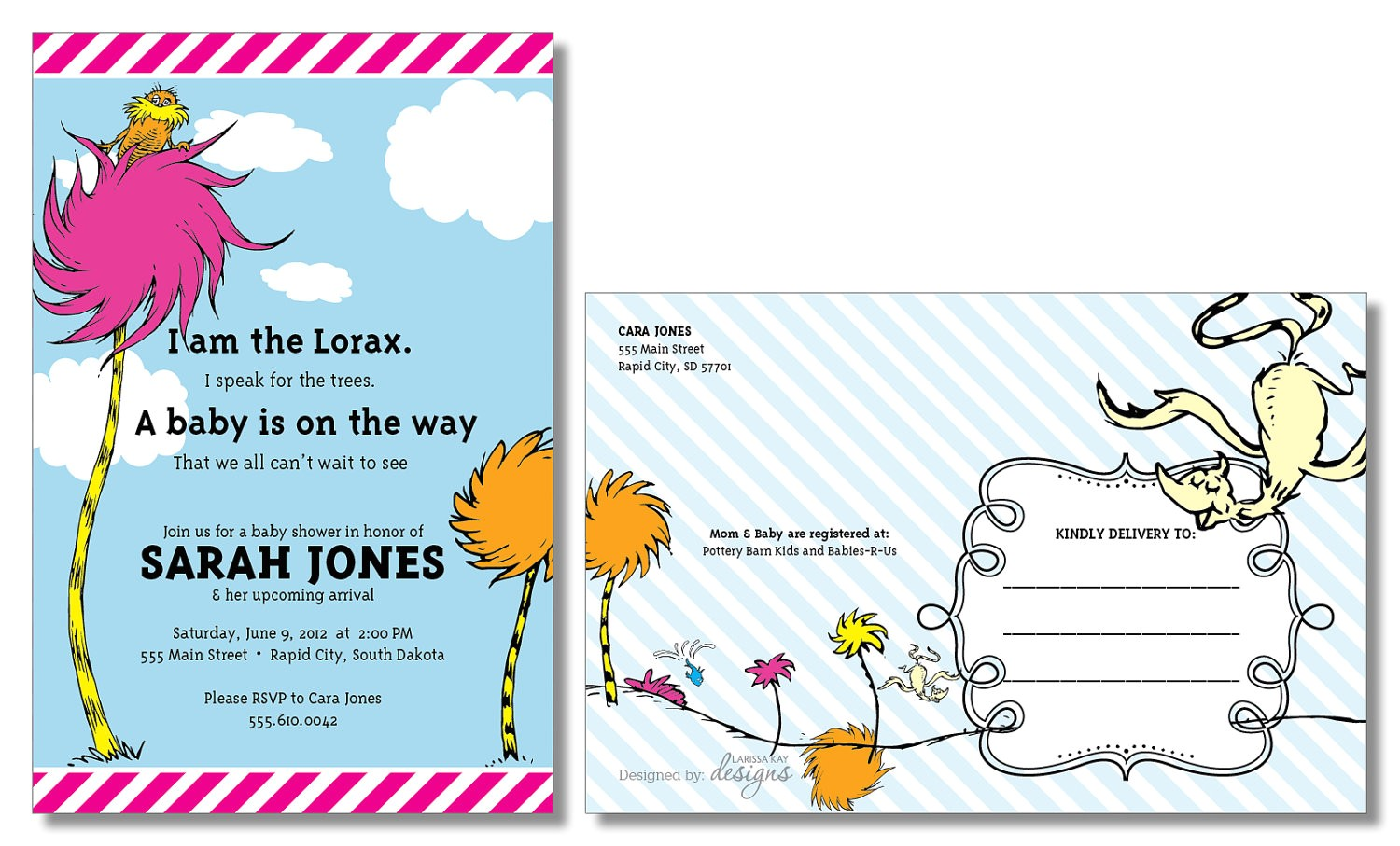 how to make dr seuss baby shower invitations
