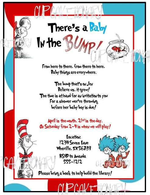 dr seuss baby shower invitation i print