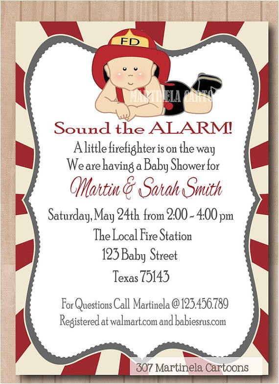 fireman baby shower invitation fireman first birthday invitation cute firefighter baby boy invite printable digital file pdf