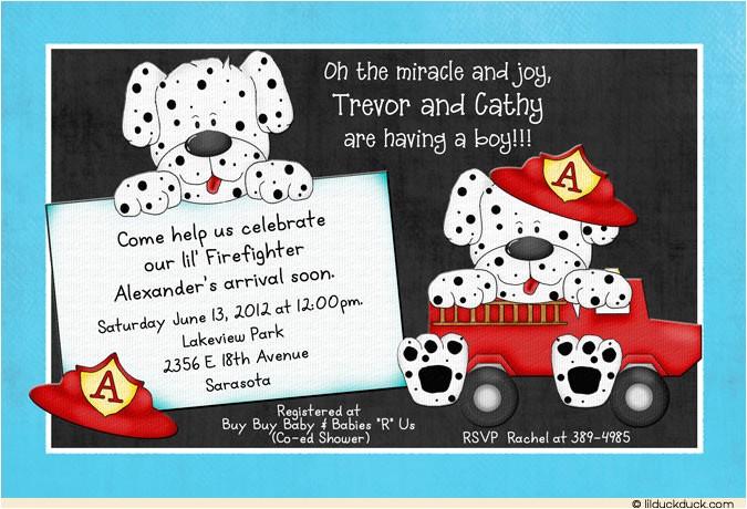 firefighter baby shower invitations