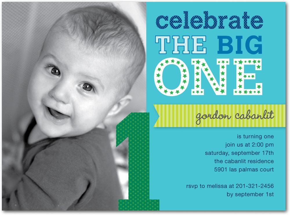 first birthday invites