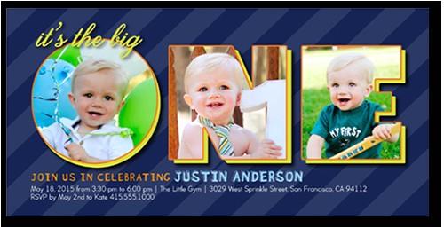 one collage boy birthday invitation 4x8 photo productcode 1094161 categorycode 60381 skucode 1094162