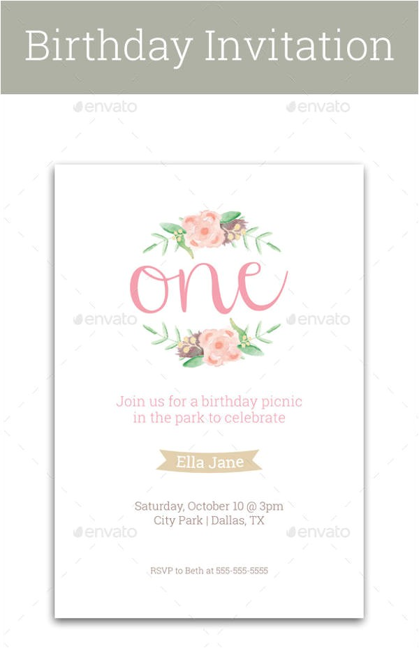 First Birthday Invitation Letter format Birthday Invitation format Templates