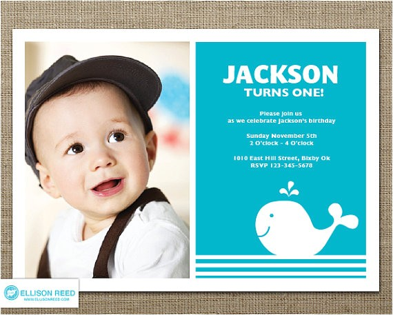 1st birthday invitations for boys
