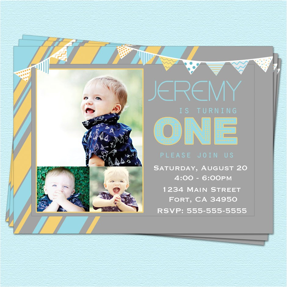 first 1st birthday invitations boy