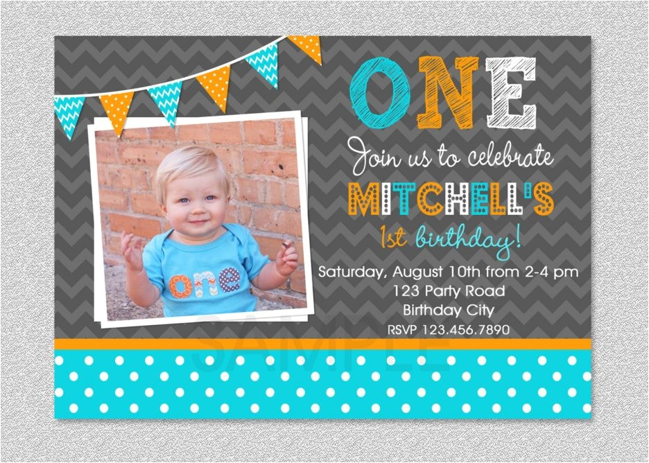invitation card for first birthday of baby boy