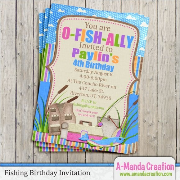 fishing themed party invitation