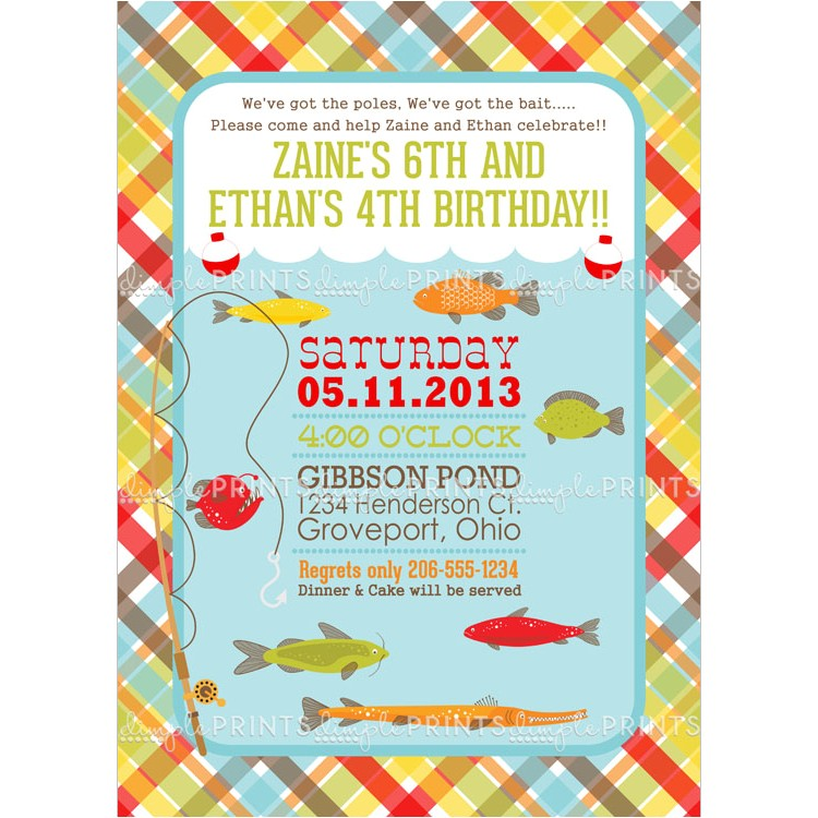 fishing printable birthday party invitation 2