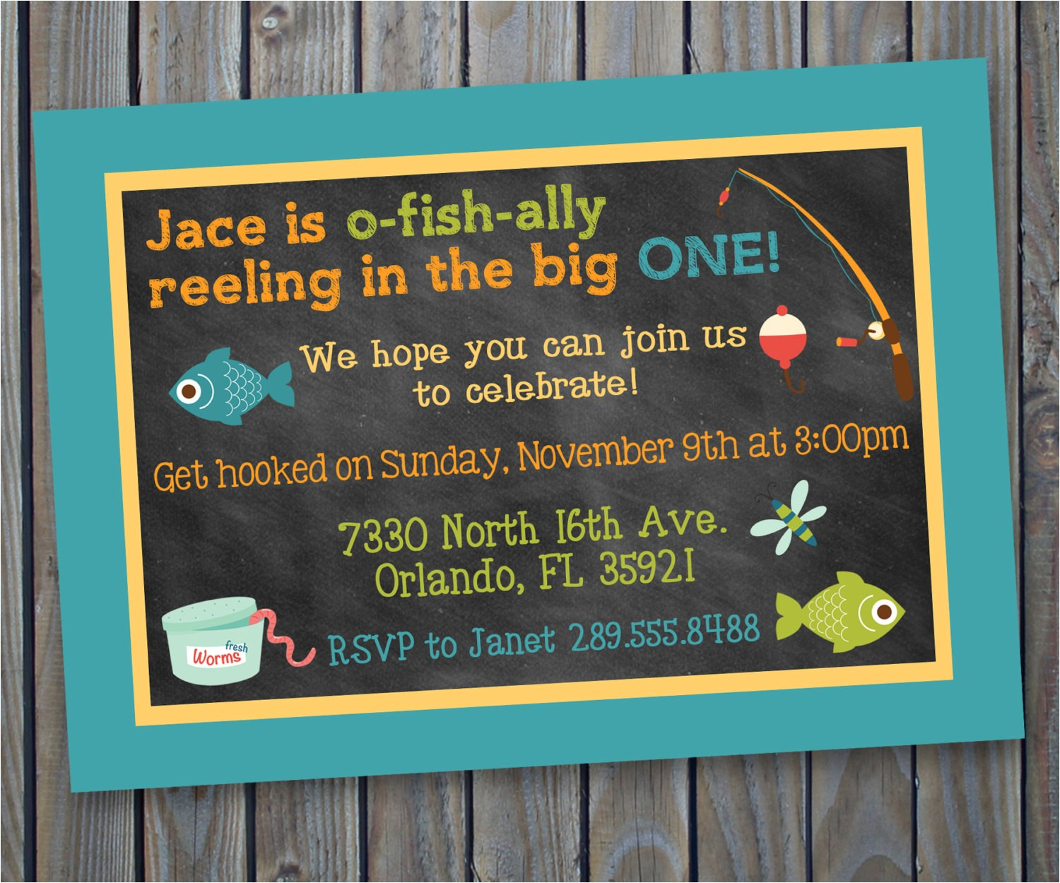 printable fishing theme birthday