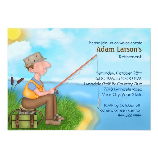 gone fishing retirement party invitations
