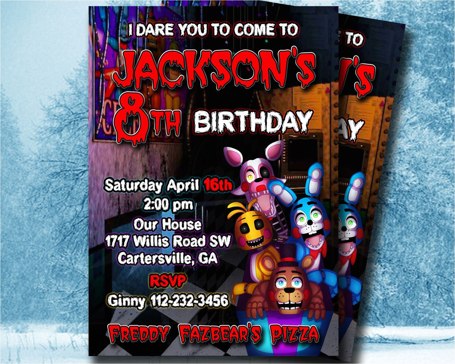 five nights at freddys invitation 5