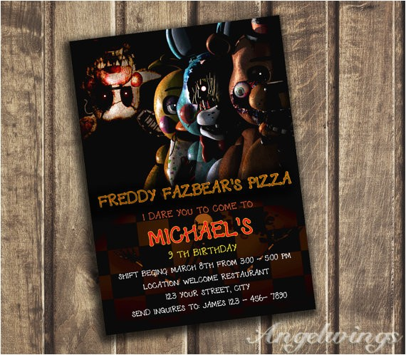 five nights at freddys invitation five