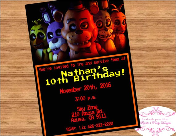 five nights at freddys birthday