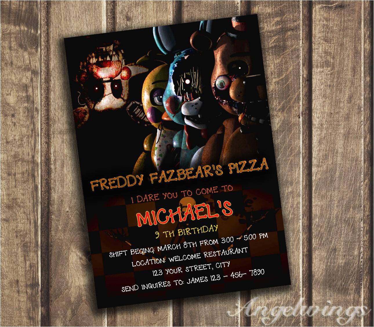 five nights at freddys invitation five