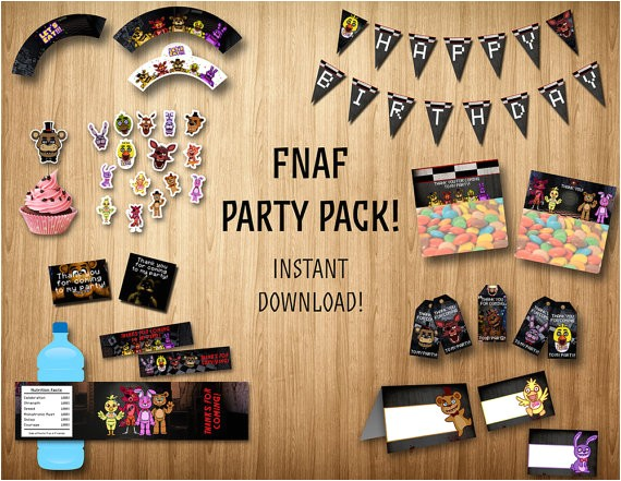 five nights at freddys party pack fnaf